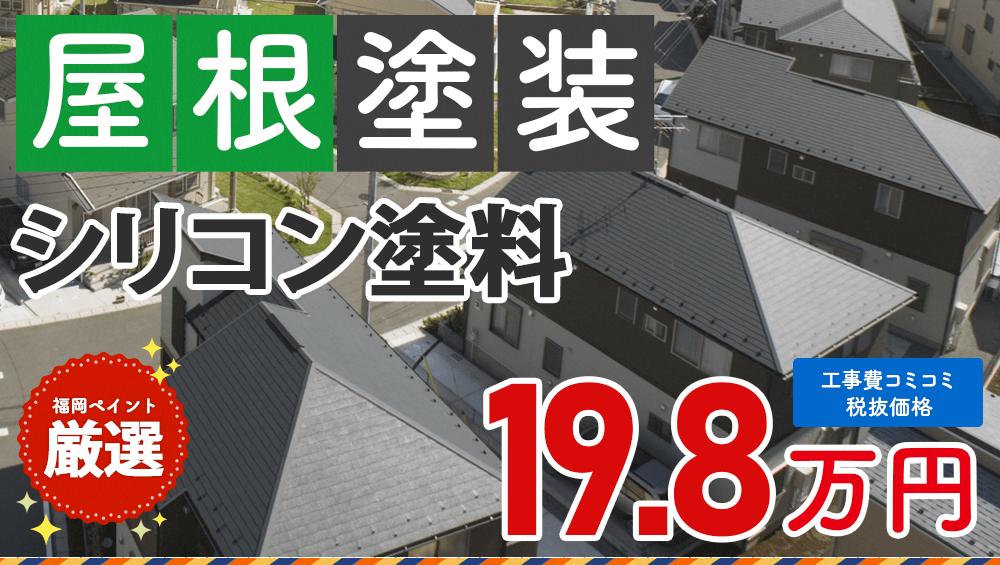 シリコン塗料 屋根塗装プラン  198000円(税抜き)