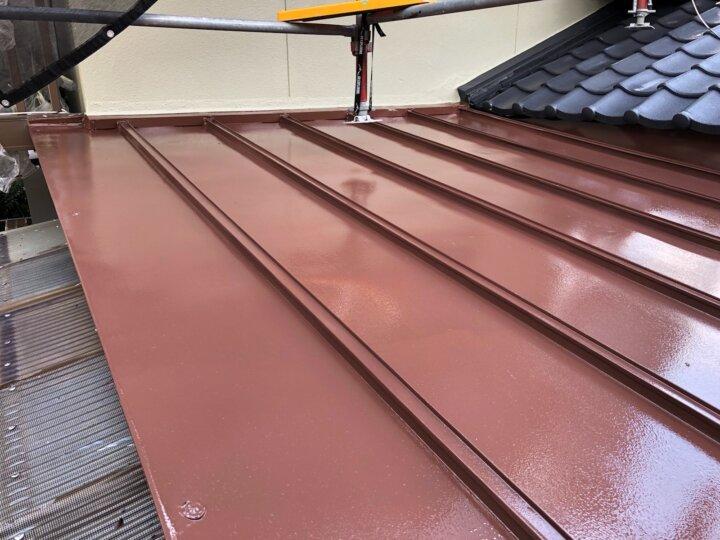 【鉄板屋根】上塗り完了
