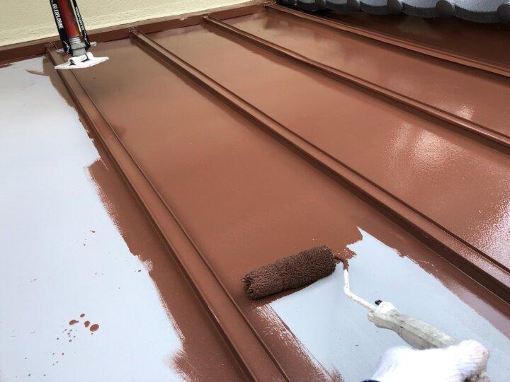【鉄板屋根】中塗り