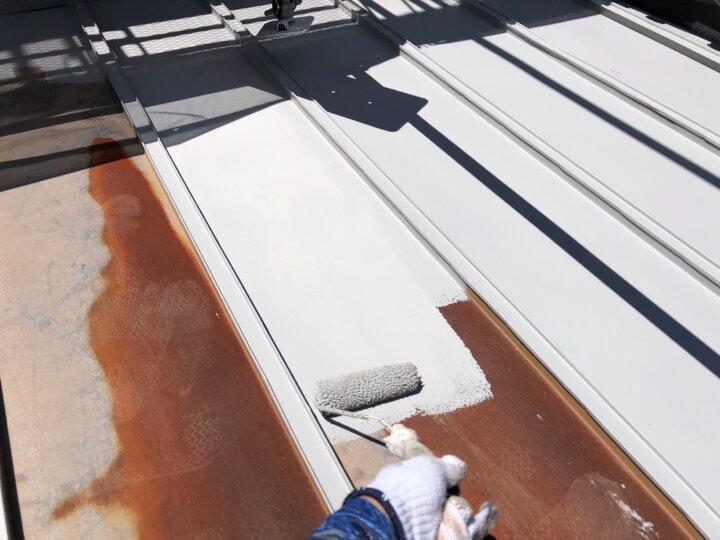【鉄板屋根】下塗り