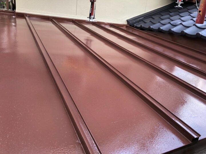 【鉄板屋根】中塗り完了