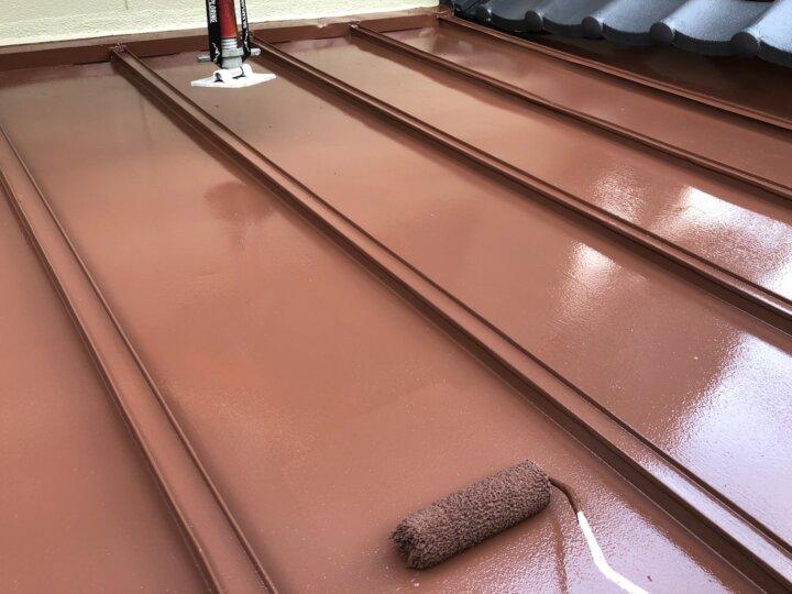 【鉄板屋根】上塗り