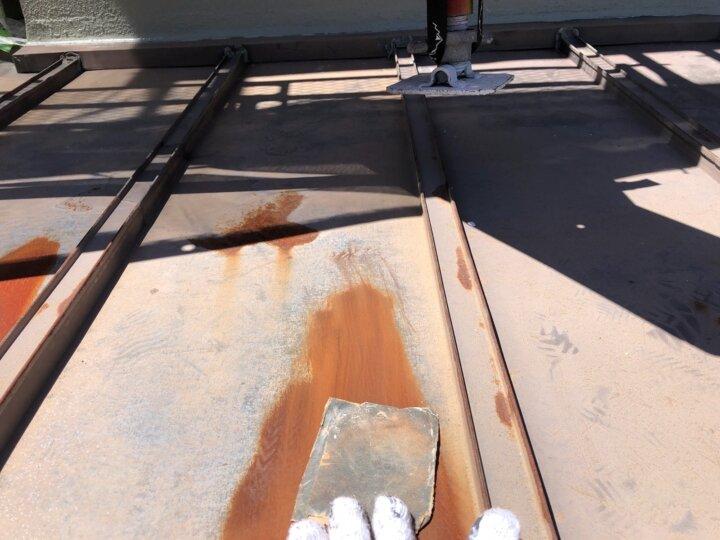 【鉄板屋根】下地処理